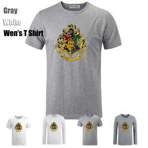 Harry-Potter-Four-College-Desgin-Couple-T-Shirt-Men-039-s-Women-039-s-Graphic-Tee-Tops