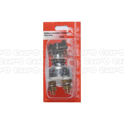 Autobar 438M Batería Aislador Interruptor Cuerpo De Metal Reemplazo Eléctrico