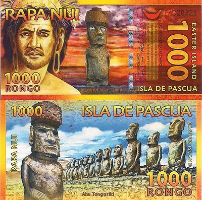Easter Island, 1000 Rongo, stone heads (Moa) POLYMER, UNC, 2011