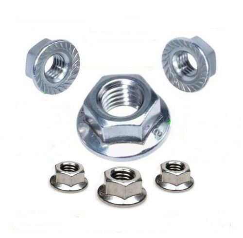 M 12 Nut with Flange 12 mm Din 6923 a2 100 Piece