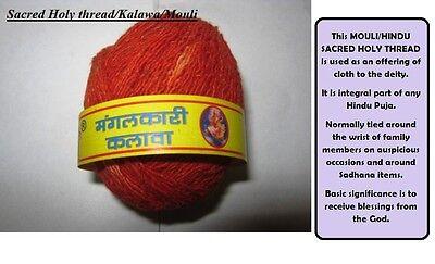 3 Spool Mauli Sacred Holy Hindu Thread Kalawa India Temple Religious Puja Aarti