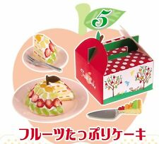 Re-Ment Fruit Wave #5-Fruit Layer Cake, 1:6 Barbie scale kitchen food minis