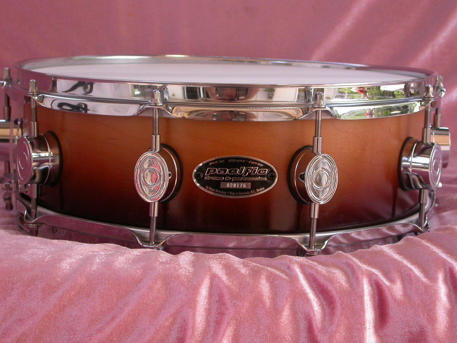 PDP PACIFIC by DW MX SERIES 14  SNARE DRUM in TOBACCO BURST FOR SET LOT  M10