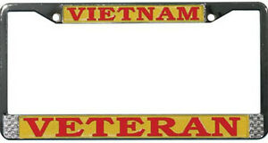 VIETNAM-VETERAN-HIGH-QUALITY-METAL-LICENSE-PLATE-FRAME-MADE-IN-THE-USA