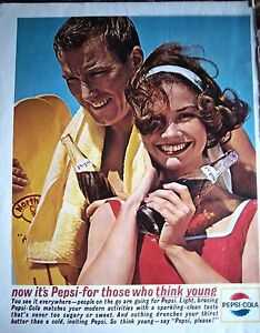 1963-Pepsi-Cola-Think-Young-Swimming-Summer-Glass-Bottle-Soda-Pop-Ad