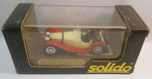 Solido-1-43-Scale-Metal-Model-SO99-JAGUAR-SS100-4002-CREAM-RED