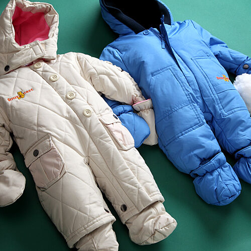 JACADI Girl/'s Attente Soft Pink Hooded Zipper Up Snowsuit Size 12 Months NWT $94