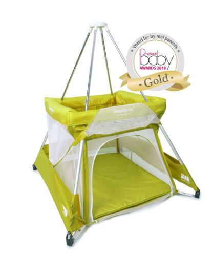 Travel Cot tepee mosquito net £99 BabyHub new model green KIWI OFFER