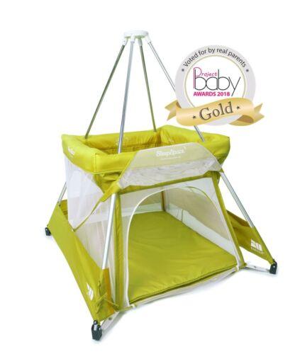 BabyHub new model green (KIWI) Travel Cot, tepee, mosquito net