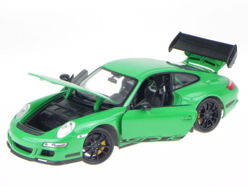 Porsche 911 997 GT3 RS grün Modellauto 18015 Welly 1:18