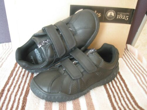 NEW CLARKS STOMPO ROAR OLDER BOYS BLK LEATHER SCHOOL SHOES VARIOUS SIZE