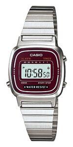 Casio-LA-670WA-4E-Orologio-Donna-polso-Vintage-Nuovo-Crono-Sveglia