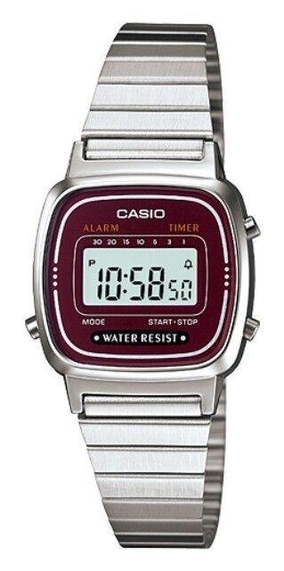 Casio LA-670WA-4E Orologio Donna polso Vintage Nuovo Crono Sveglia