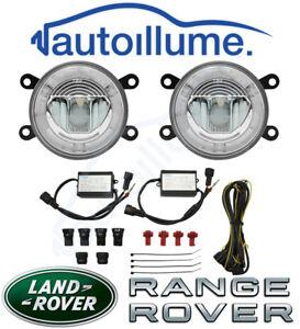 Land-Rover-Range-Rover-Sport-Defender-Freelander-LED-DRL-Angel-Eye-Fog-Light-Kit