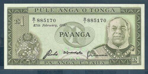 P.19c UNC 1987 Tonga 1 Paanga