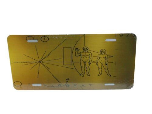 1972 Pioneer Probe Plaque License Plate 6 X 12 Inches New Aluminum Made In USA