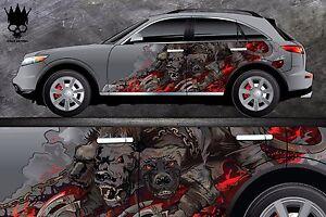 Car Side Full Color Vinyl Sticker Custom Body Decal Hellhound - Full color vinyl stickers