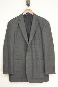 Paul Fredrick Herren Sport Mantel 42r Grau Braun Kariert Wolle Patch-tasche Auf Der Ganzen Welt Verteilt Werden Kleidung & Accessoires Herrenmode