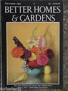 Better Homes Gardens Magazine October 1931 J K Murray