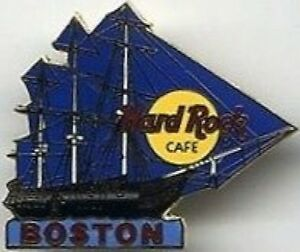 Hard-Rock-Cafe-BOSTON-1990s-USS-CONSTITUTION-Blue-Clipper-Ship-PIN-HRC-10865