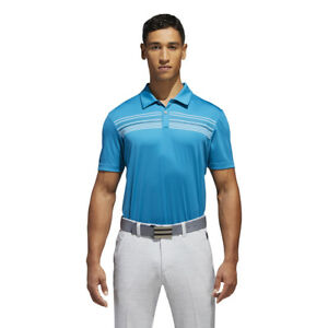 Adidas-Golf-Climacool-Chest-Print-Men-039-s-Polo-Shirt-Pick-Size-amp-Color