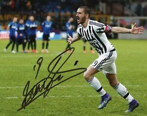 Foto-Autografo-Calcio-Leonardo-Bonucci-Asta-Beneficenza-Soccer-Coa-Signed-Sport