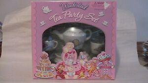 Tea Party Set 17 Piece Porcelain Chef Allyson Ames Wonderland Collection t49