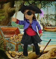 Pirate 7 Piece Set Costume Made For 18 American Girl Doll Clothes Great Value