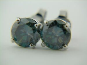 14K-White-6-7mm-Round-Blue-Green-Peacock-Color-Moissanite-Earrings-2-05-carats