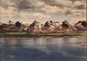 NORWEGEN-Norge-Norway-1940-50-Postcard-Postkarte-De-syv-Sostre-Nordland-color