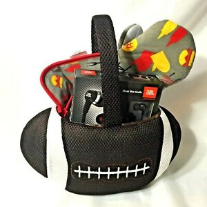 Football-Theme-Gift-Basket-Griller-Holiday-J22-Headphones-Griller-Recipe-Book