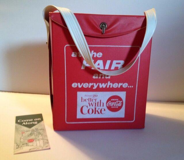 1964-65 NY World's Fair Coca-Cola Cooler with Coke Pavilion brochure
