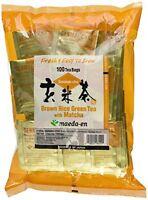 Maeda-en Brown Rice Green Tea With Matcha 100 Tea Bags, New, Free Shipping on Sale