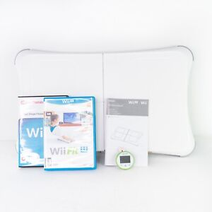 Nintendo Wii Balance Board + Wii Fit Video Game - Complete Bundle RVL-021 Tested