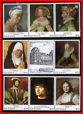 GUYANA = PAINTINGS fr.FRANCE  MNH HALS, CHARDIN, VELAZQUES (COSTUMES)