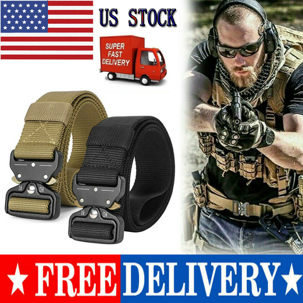 Military Style Nylon-Web-Belt with Quick-Release Buckle GAIVP Tactical-Belts for Men