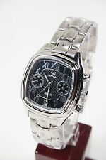Russian Chronograph Maktime Stainless Steel. Poljot 3133 movt. 40mm Square dial