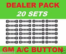20 PIECE 2007-2013 CHEVROLET AND GMC RADIO AC BUTTON DECALS TAHOE YUKON ACADIA
