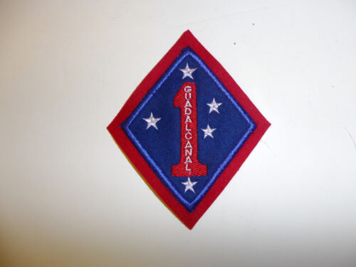 b8529 WW 2 USMC 1st Marine Division Patch Guadalcanal variation wool R5A