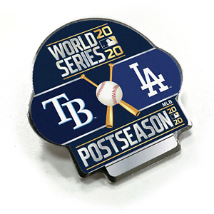 2020-MLB-World-Series-Dueling-Collector-Lapel-Pin-Tampa-Bay-Rays-Los-Angeles-Dod