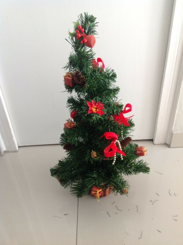 Table Christmas Tree with decorations as shown