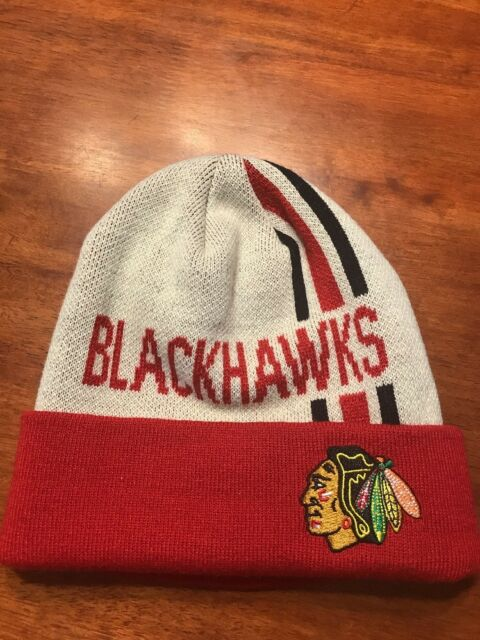0316f06e6a0 New Chicago Blackhawks Old Time Hockey Winter Knit Hat Beanie Cap NHL