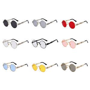 Gafas-de-Sol-Espejo-Redondas-Unisex-Gotico-Steampunk-Blinder-Cyber-Retro-Vintage