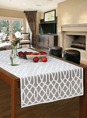 "lace tablecloth table runner NEW 55 x 135 cm 22/"" x 53/"" Rectangular white"
