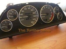 Para Nissan Skyline R32 GTS GTR 89-94 Anillos de instrumentos de Cromo Pulido Aleación x6