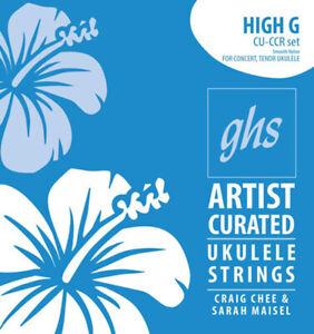 GHS CU-CCR Craig Chee Sig Smooth Nylon Ukulele Strings, Re-Entrant String Set