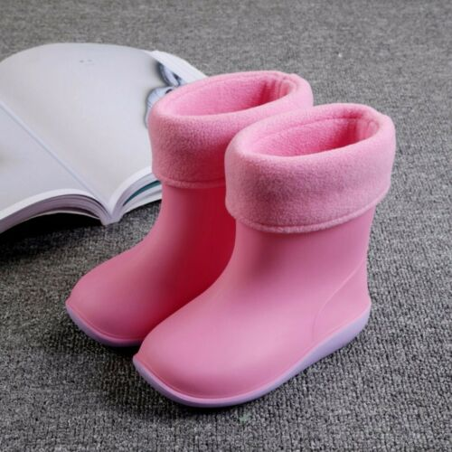 Waterproof Child Soild RubberWarmUnisex Baby Rain Boots Kids Rain Casual Shoes