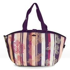 FastRider Shopper Paisley Rear Pannier Bag Purple Stripe 22.5ltr