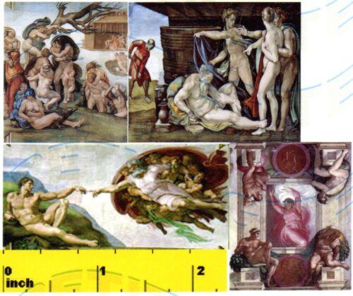 Michaelangelo Creation of Adam Print Set CDHM 1:12 DOLLSHOUSE Miniature
