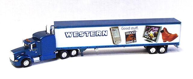 Peterbilt 386 Western Distributing Co w/53' Reefer Trailer 1/87 HO TNS SP077